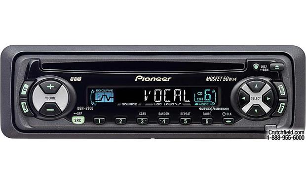 pioneer deh 2300 cd receiver on research at crutchfield