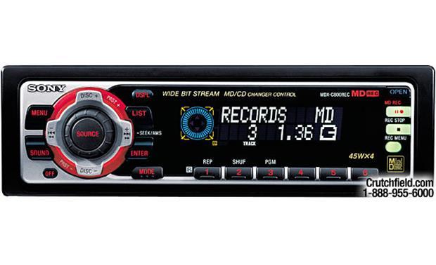 sony xplod mdx c800rec minidisc receiver recorder with cd changer rh crutchfield com