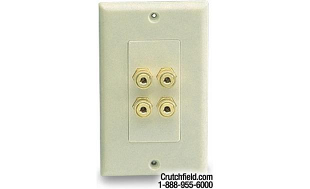 Niles® Audio 4-post Wall Outlets for Speaker Wires Bone