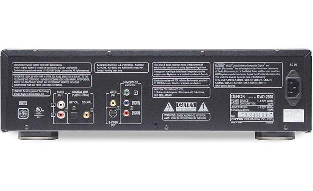 Denon DVD-2900 DVD Player Review | Audioholics