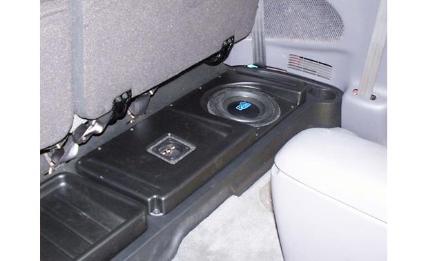 q customs factory fit subwoofer enclosures 1997 up dodge dakota club rh crutchfield com
