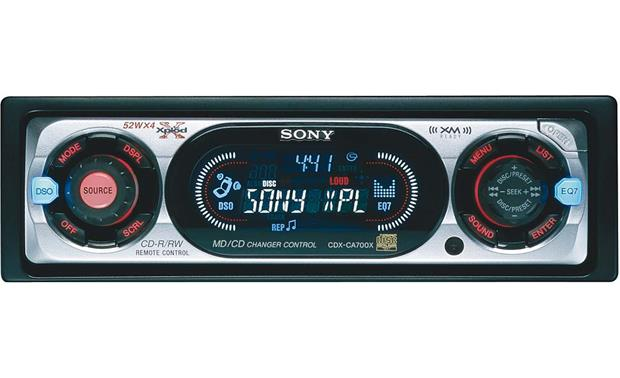 sony cdx ca700x cd receiver with cd changer controls at crutchfield