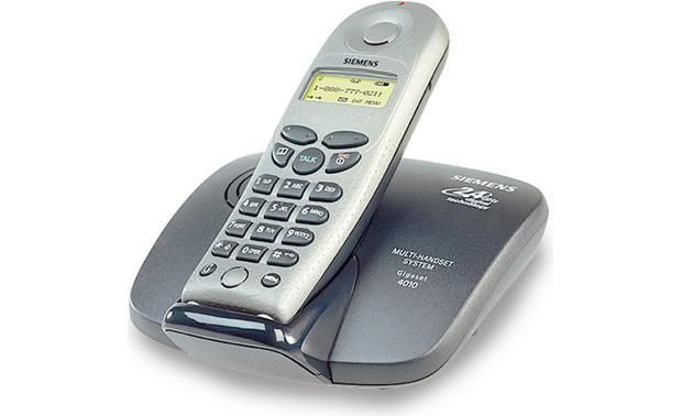 24 GHz Digital Cordless Phone Black Silver Siemens Gigaset 4010
