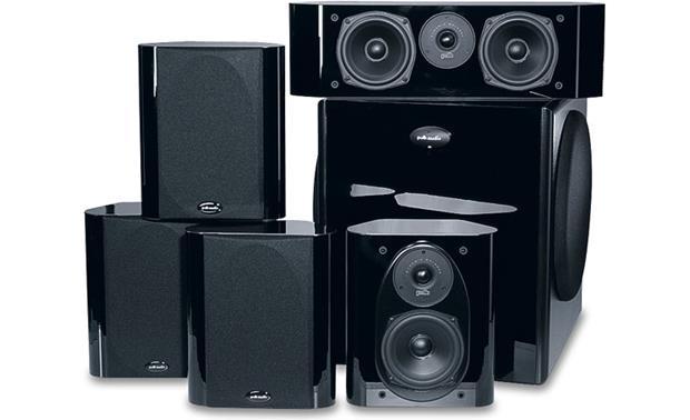 polk rm7500 4 satellites and center home theater speaker system at rh crutchfield com