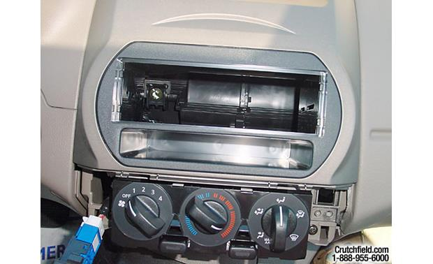 American International ND-K716 Dash Kit Kit installed without radio