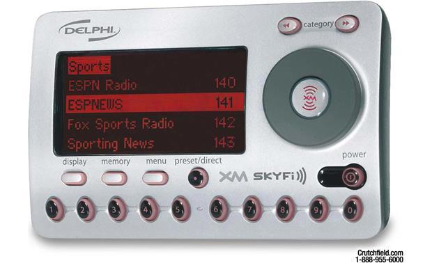 delphi skyfi add on xm satellite radio receiver at crutchfield com rh crutchfield com Delphi Sound System Delphi SKYFi2 Car Cradle Kit