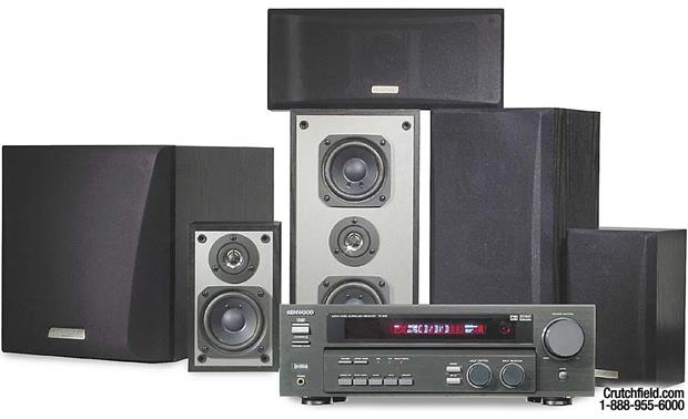 Kenwood HTB-505 Speakers and receiver