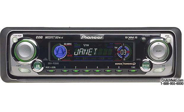 pioneer deh p3500 cd receiver with cd changer controls at crutchfield