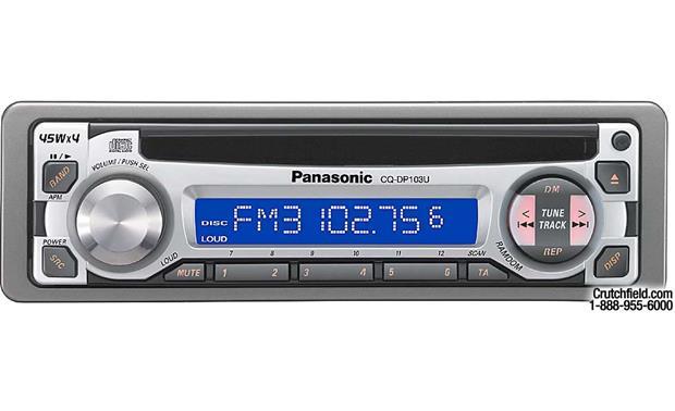 Panasonic CQ-DP103U CD Receiver at Crutchfield