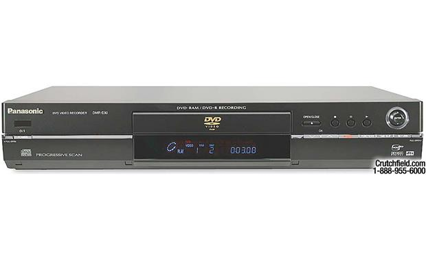 panasonic dmr e30 black dvd recorder player with progressive scan rh crutchfield com Panasonic Professional DVD Recorder Panasonic DVD Recorder DMR E65