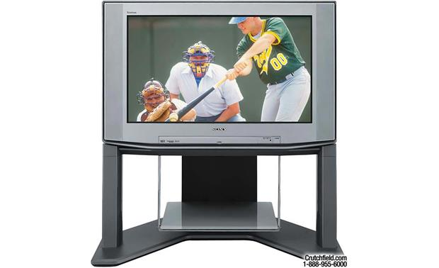 Sony KV-34XBR800 TV on optional matching stand