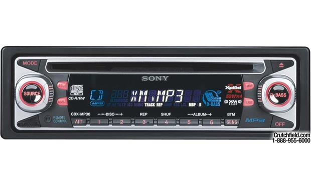 sony cdx mp30 cd mp3 receiver with cd changer controls at Sony Xplod Radio Wiring Diagram 630Ui sony cdx mp30 front