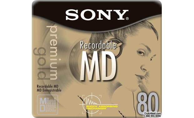 Sony 80-Minute Blank MiniDiscs Individual Premium Gold 80-minute MD