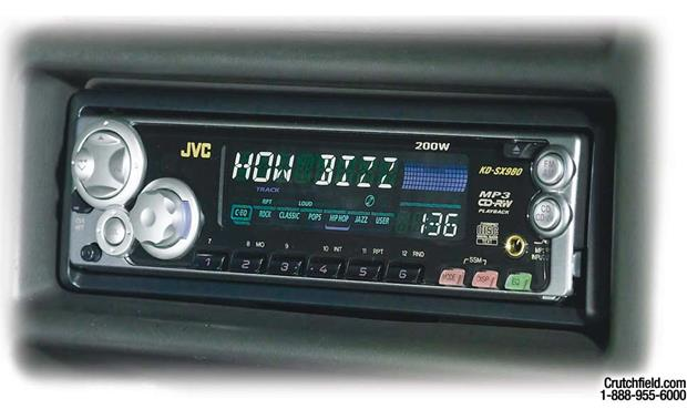 JVC KD-SX980 CD/MP3 Receiver with CD changer controls at