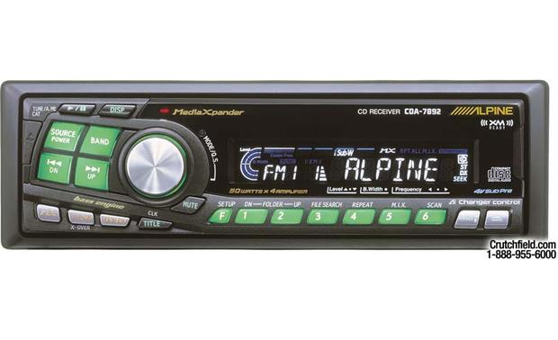x500CDA7892 alpine cda 7892 cd receiver with ai net cd changer controls at alpine cdm 9801 wiring diagram at gsmportal.co