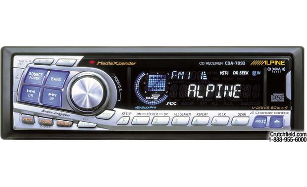 Alpine CDA-7893 CD Receiver with Ai-NET CD Changer Controls at ... on alpine cde 9842 manual, alpine 7893 manual, alpine cda-9881, alpine cda-9880, alpine car steros com, alpine cda-9813, alpine cda-7873, alpine cda-9857,