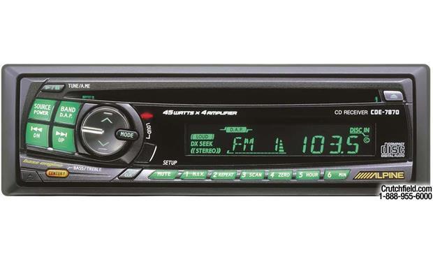 alpine cde 7870 cd receiver at crutchfield com rh crutchfield com Alpine Stereos Cde 7870 Alpine CDE-7870 Wiring
