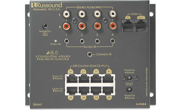 x543AH484 f russound a h484 4 source, 4 zone, 8 room a bus distribution hub at russound abus wiring diagram at fashall.co