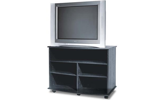 Wood Technology Cm V40 Ebony Finish Audio Video Cabinet With Shelf