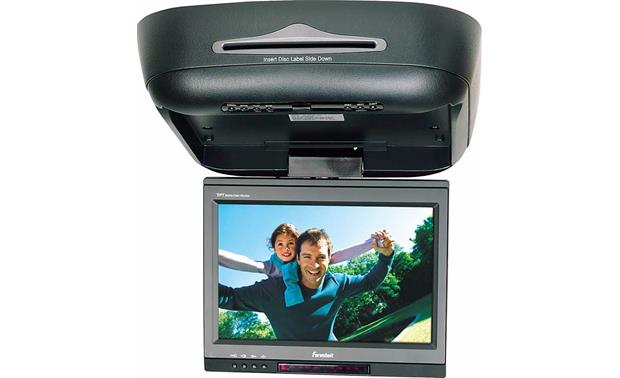 farenheit md1000 10 overhead lcd monitor with built in dvd player rh crutchfield com Headrest DVD Player Installation Diagrams Farenheit Car System