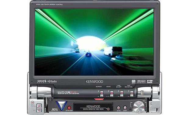 kenwood kvt 715dvd dvd receiver 7 lcd video monitor at kenwood kvt 715dvd front