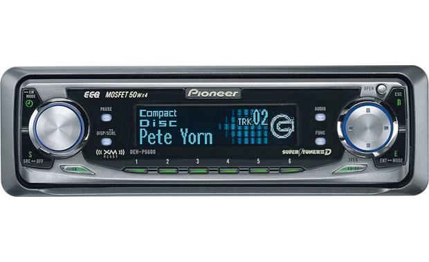 Pioneer DEH-P6600 CD receiver with CD changer controls at CrutchfieldCrutchfield