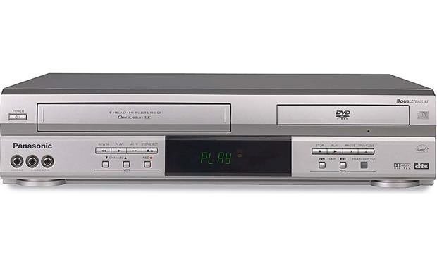 panasonic pv d4743 silver combination progressive scan dvd cd player hifi vcr at. Black Bedroom Furniture Sets. Home Design Ideas