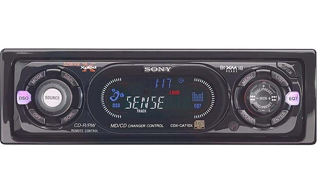sony cdx ca710x cd receiver with cd changer controls at crutchfield
