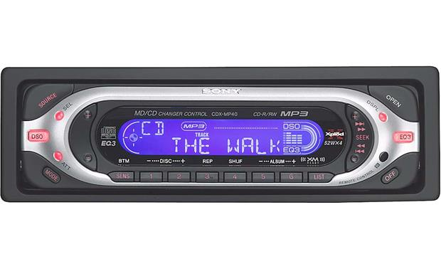 Sony Cdx-mp40 Cd  Mp3 Receiver With Cd Changer Controls
