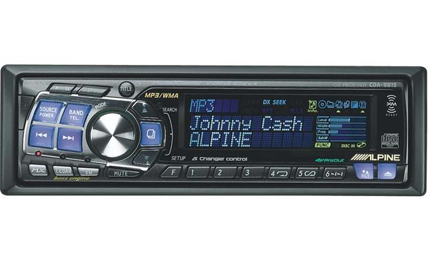 alpine cda 9815 cd mp3 wma receiver with cd changer controls at 94 Acura Legend alpine cda 9815 front
