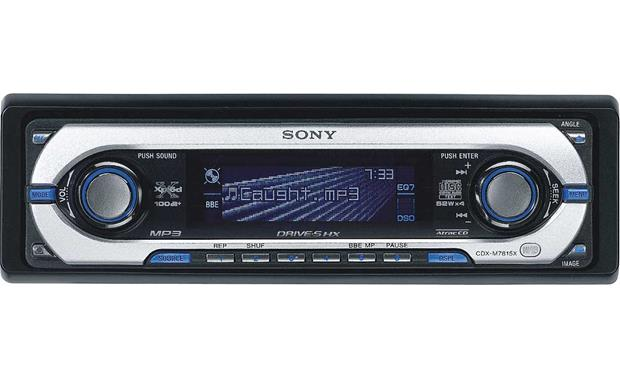 Sony cdx m7815x cd receiver with mp3 atrac3plus playback at sony cdx m7815x front publicscrutiny Images