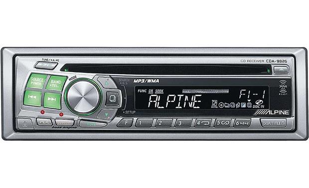 alpine cda 9826 cd mp3 wma receiver with cd changer controls at rh crutchfield com Alpine CDA- 9855 Aux Alpine CDA- 105