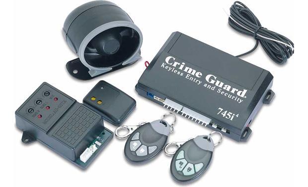 crime guard 745i4 car security system reviews at crutchfield com rh crutchfield com Autopage Car Alarm Wiring Diagram Alarm System Wiring Diagram