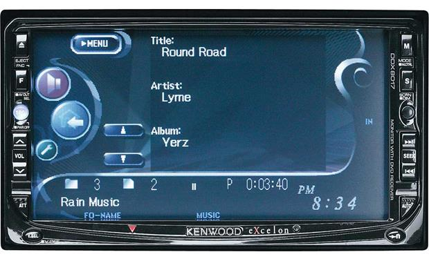kenwood excelon ddx8017 dvd cd player with 6 5 video screen at rh crutchfield com Kenwood User Manuals Kenwood User Manuals