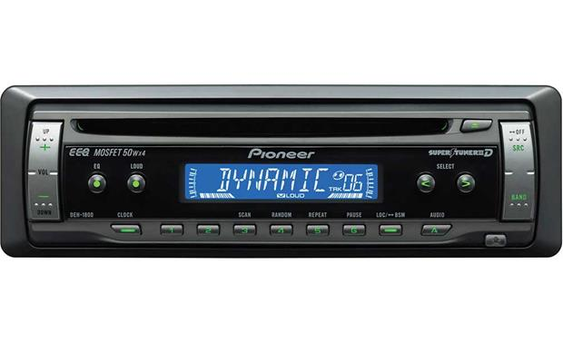 pioneer deh 1800 cd receiver features specs at crutchfield
