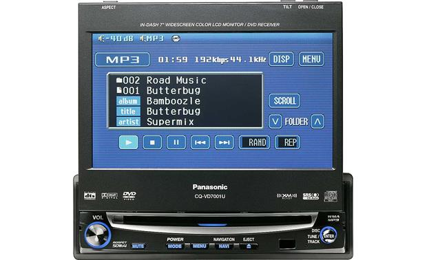 x133VD7001 f panasonic cq vd7001u in dash dvd player with 7\