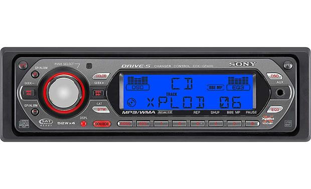 Sony CDX-GT400 CD player with MP3/WMA playback at Crutchfield.com