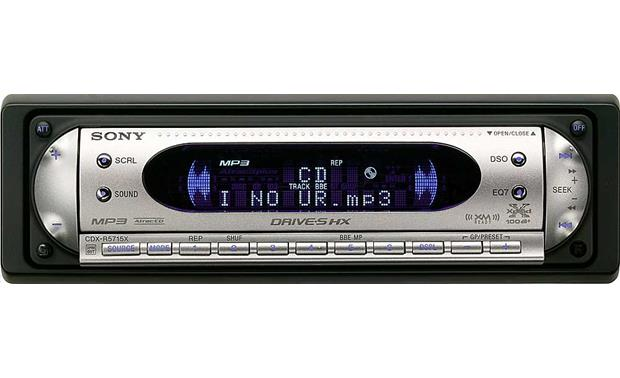 Sony cdx r5715x cd receiver with mp3 atrac3plus playback at sony cdx r5715x front publicscrutiny Images