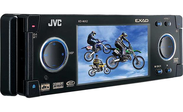 jvc kd avx2 in dash dvd receiver 3 5 video screen at jvc kd avx2 front