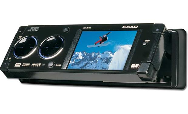 jvc exad kd avx1 dvd cd receiver with 3 lcd screen at. Black Bedroom Furniture Sets. Home Design Ideas