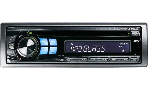 alpine cde 9846 cd player mp3 playback at crutchfield com alpine cde 9846 front