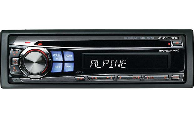 alpine cde 9873 cd receiver with mp3 wma aac playback at crutchfield com rh crutchfield com Alpine CDE Aux alpine cde-9873rb user manual