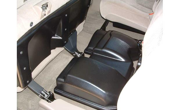 Q-Customs Factory-fit Subwoofer Enclosures Rear seat install