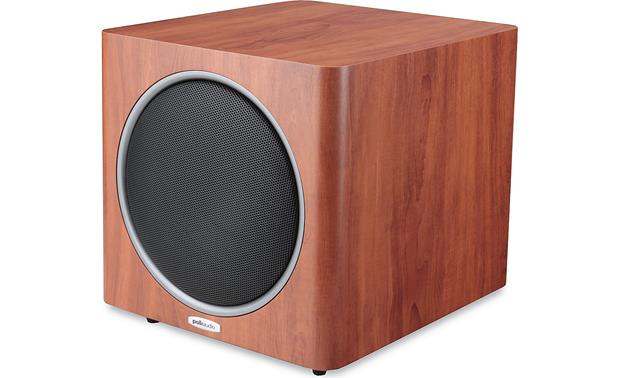 polk audio psw110 cherry powered subwoofer at crutchfield