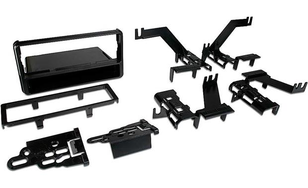 Metra 99-8216 In-dash Receiver Kit Kit package with brackets, bezel, and pocket