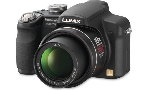 panasonic lumix dmc fz18 8 1 megapixel digital camera with 18x rh crutchfield com