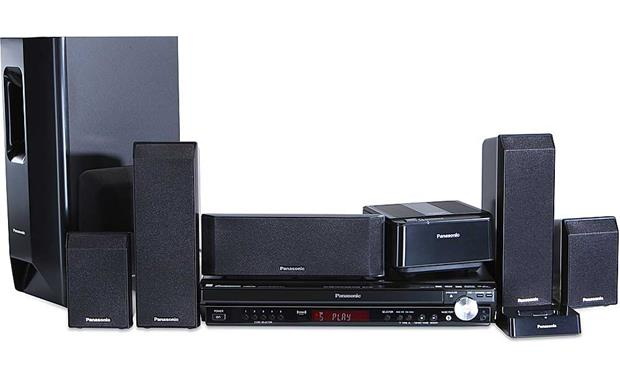 Panasonic SCPT750 5disc DVD home theater system with 1080p DVD