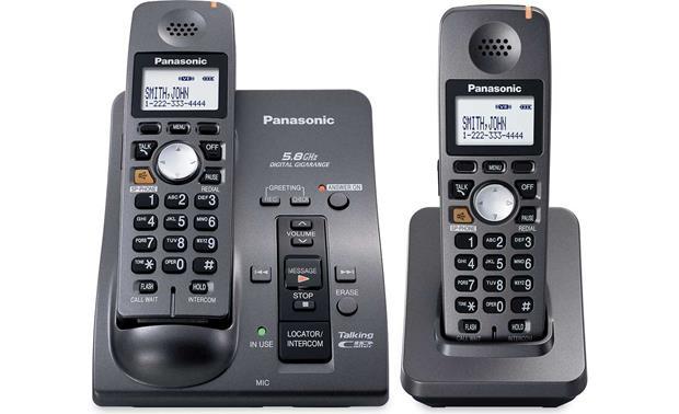 panasonic kx tg6052b 5 8 ghz expandable cordless phone system with rh crutchfield com