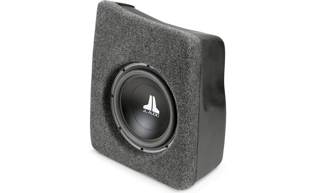 jl audio stealthbox solid dark gray custom fit fiberglass enclosure with 10 w3v3 subwoofer. Black Bedroom Furniture Sets. Home Design Ideas