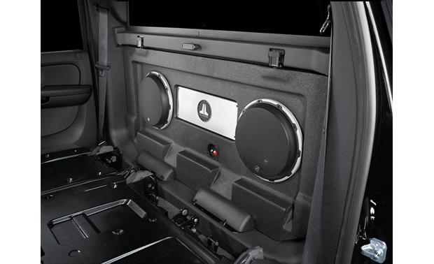 X O on Cadillac Escalade Subwoofer Box